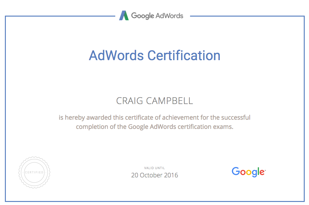 Adwords Certified PPC