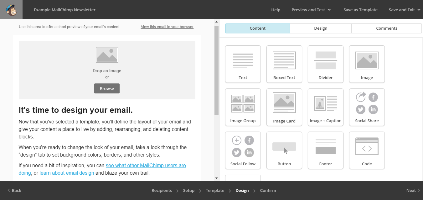 mailchimp create template from campaign - how to use mailchimp for email marketing mailchimp tutorial