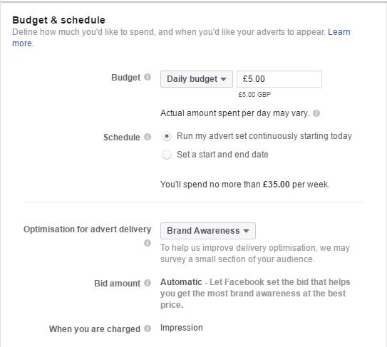 Facebook budget part 2
