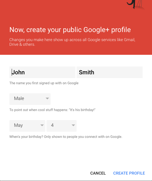 Creating Your Profile Google+