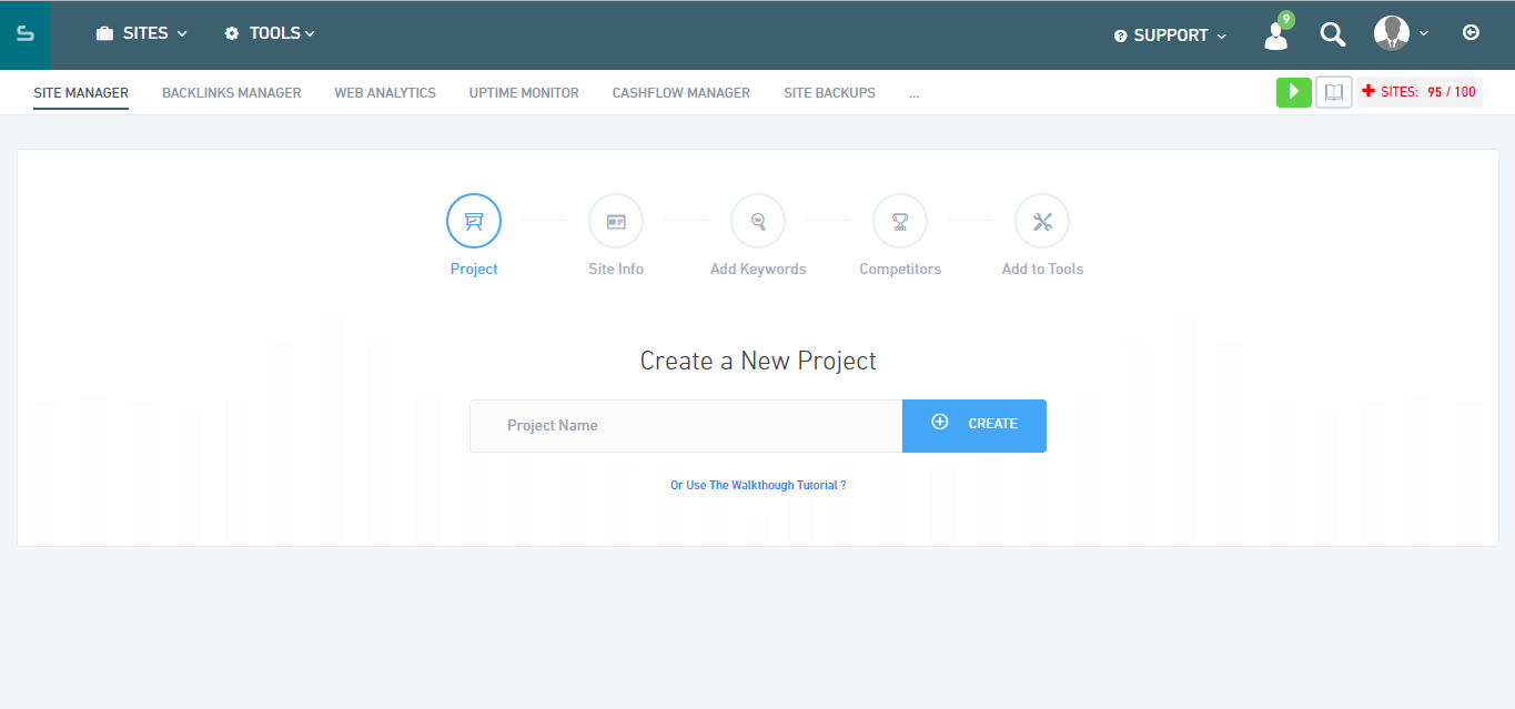 Serped create a project