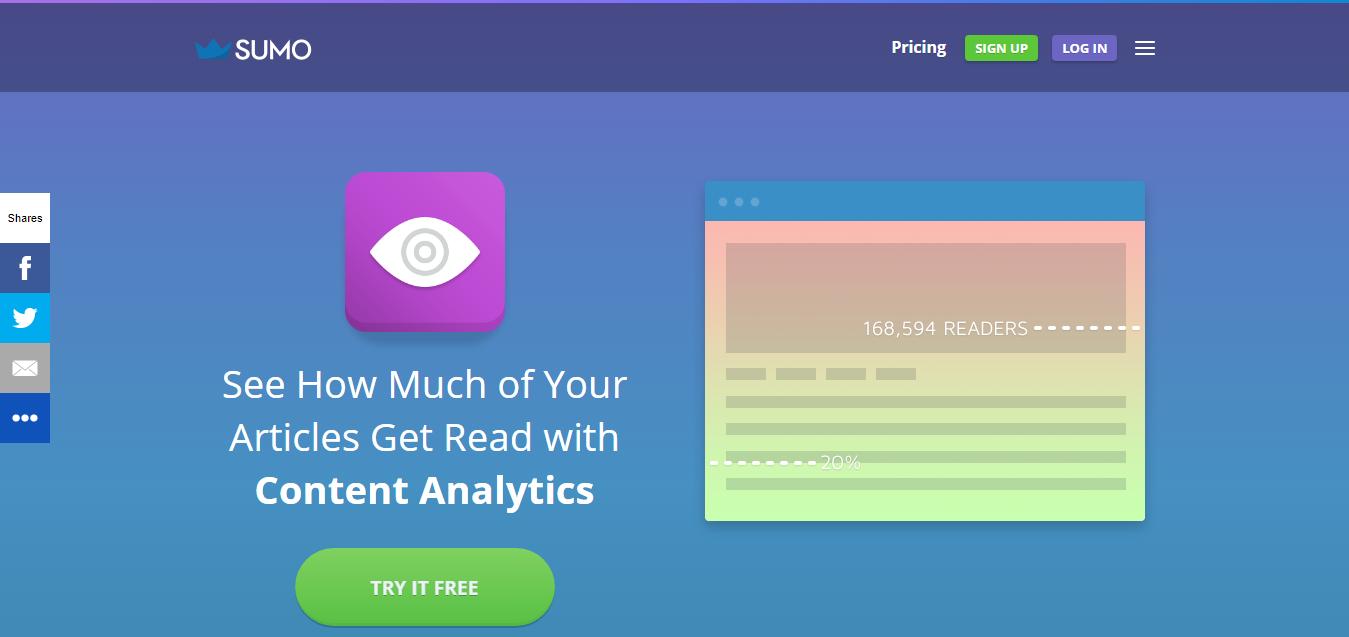 Sumo free social media analytics tool