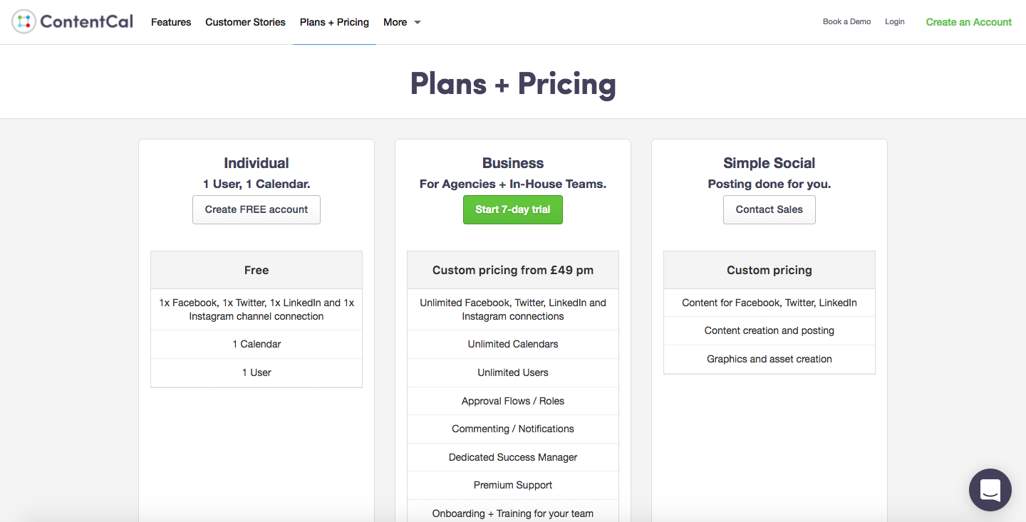 ContentCal Pricing