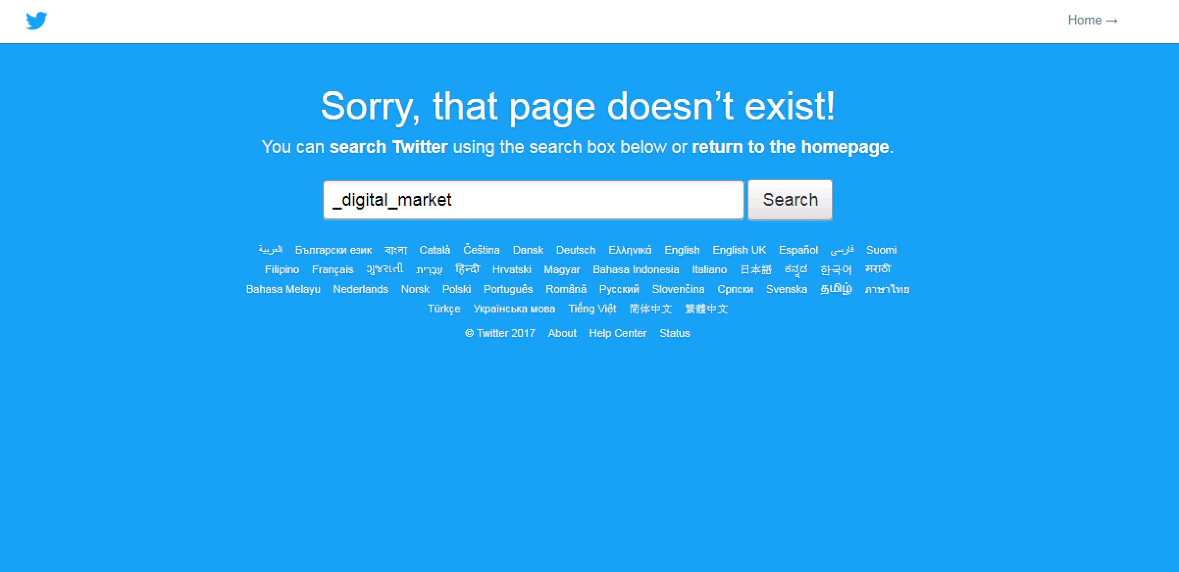 Domain Hunter Gatherer twitter example