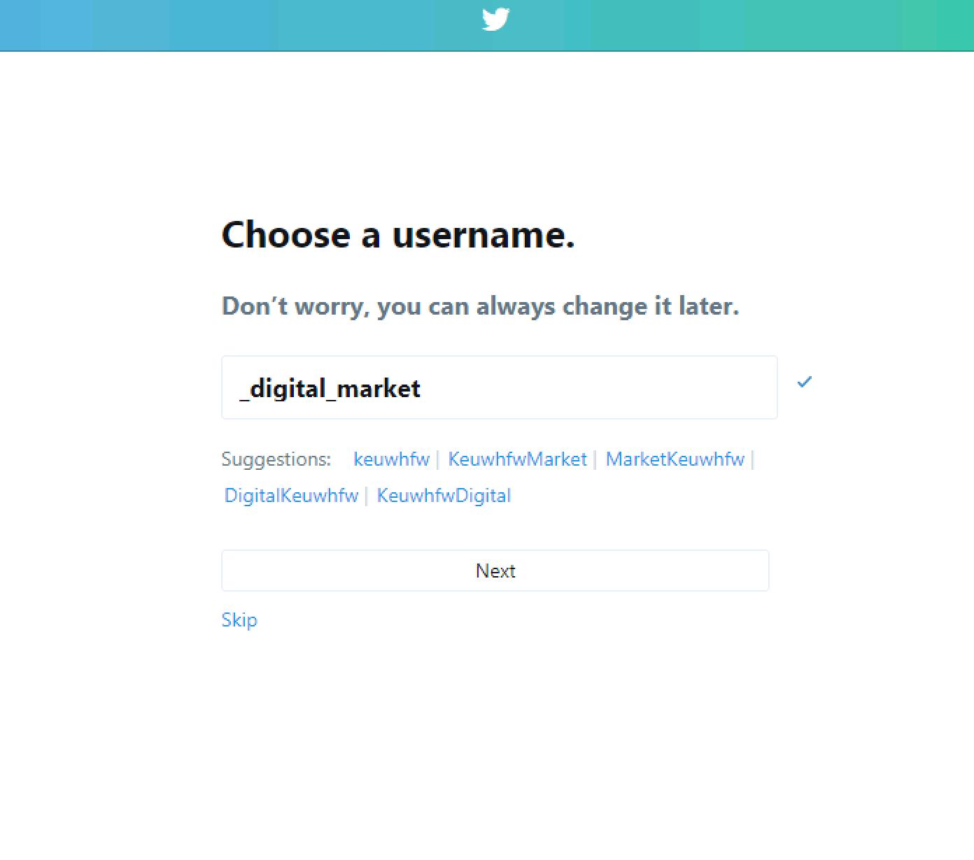 Domain Hunter Gatherer Twitter Username