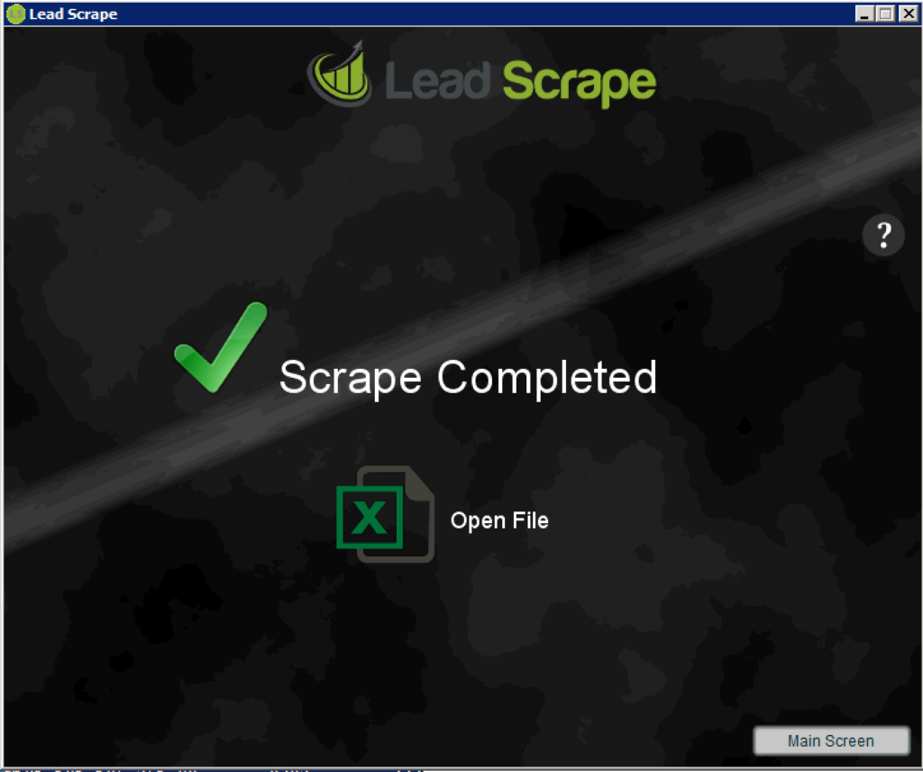 Leadscrape results