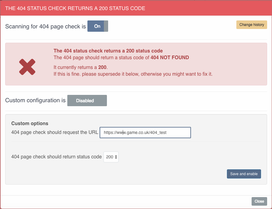 404 status code