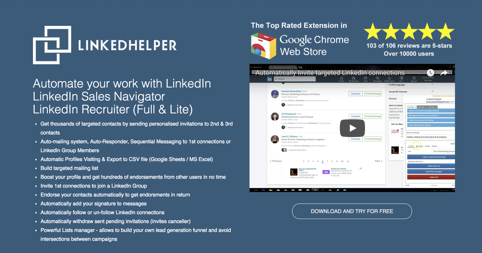 Linkedin Automation Tools, LinkedHelper Review |