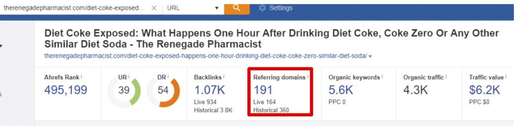 Diet coke exposed