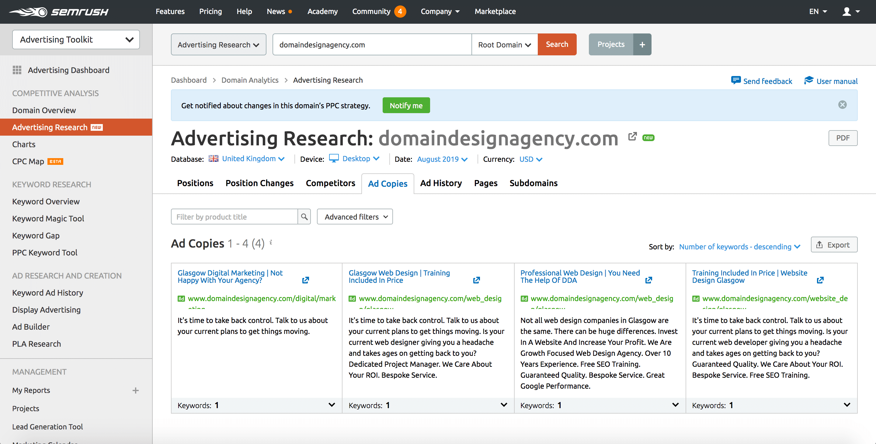 Advertising Research Tool 5