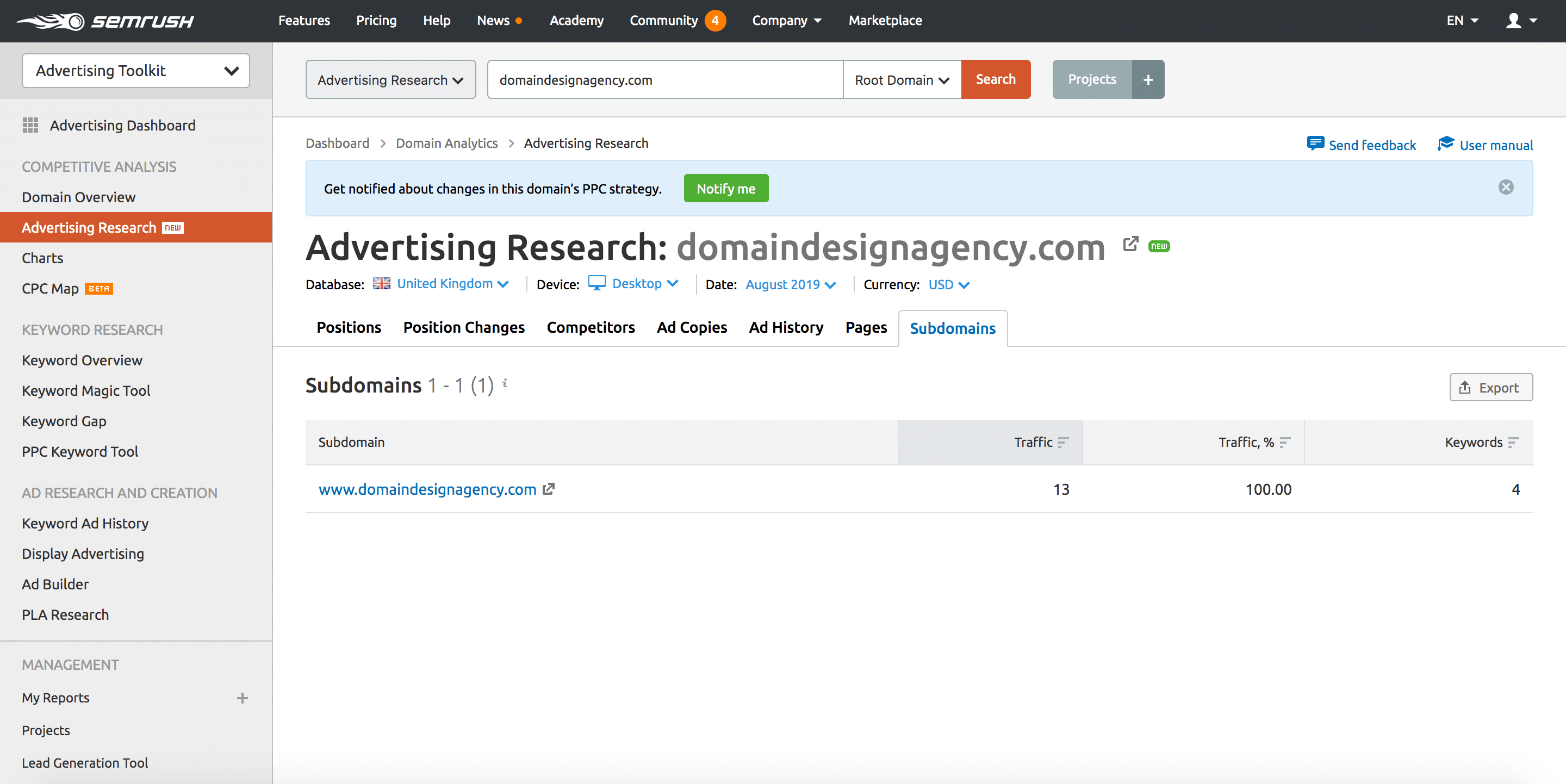 Advertising Research Tool 9