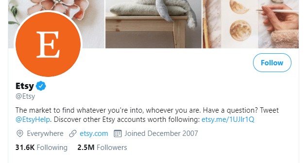 get followers on twitter - etsy