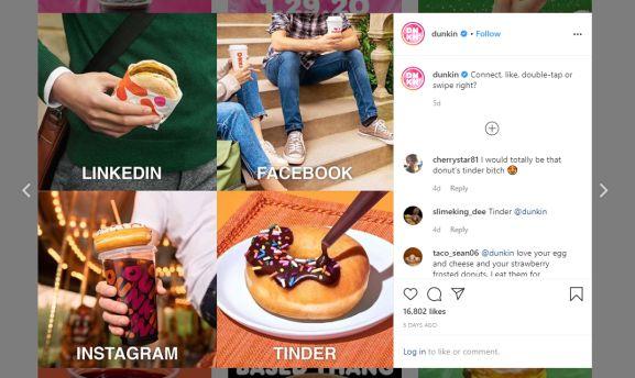 make money instagram - as business owner - dunkin donuts