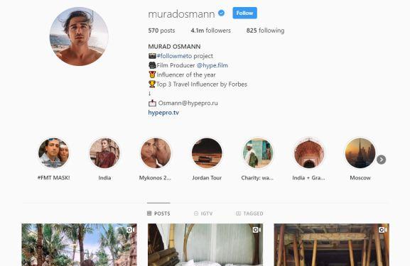 make money instagram - as influencer - murad osmann