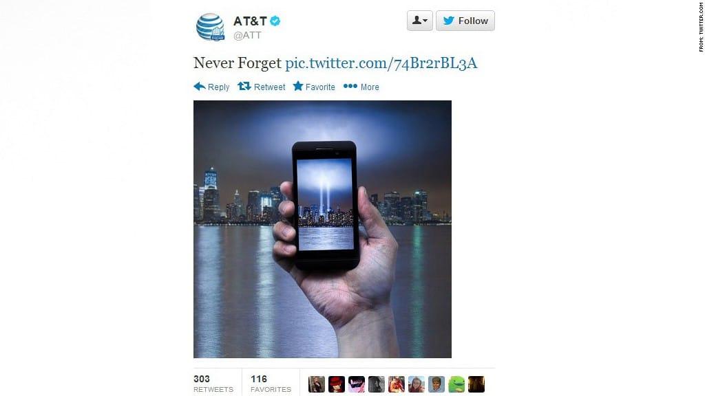 at&t 9/11 tweet