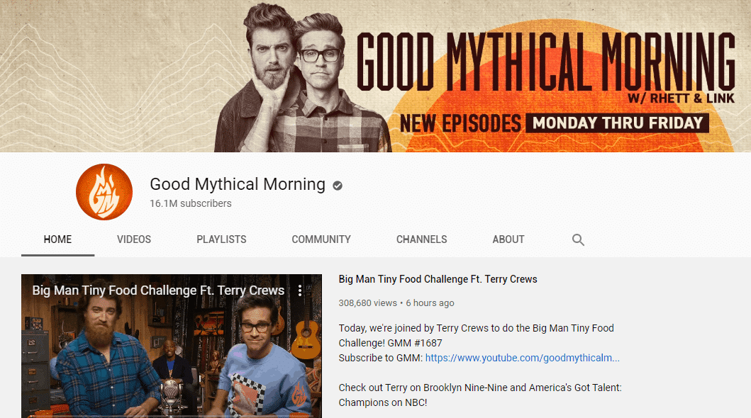 get subscribers youtube - channel icon - good mythical morning