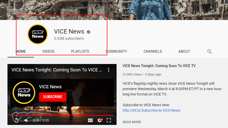 get subscribers youtube - channel icon - vice news