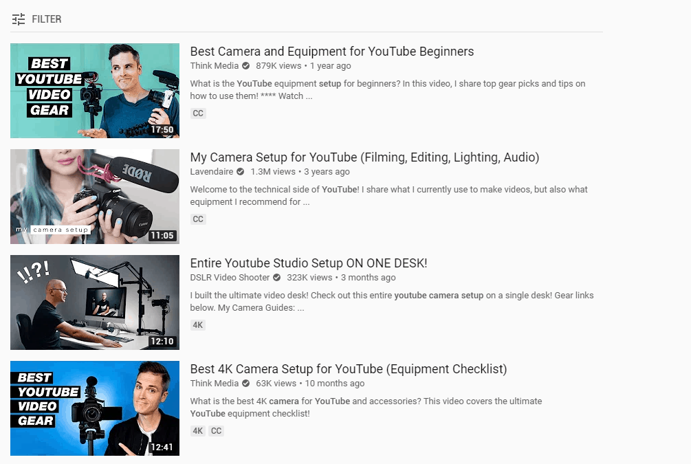 get subscribers youtube - create video content - camera equipment