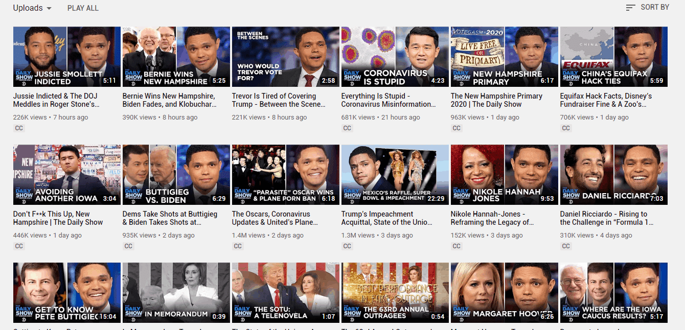 get subscribers youtube - thumbnails - trevor noah