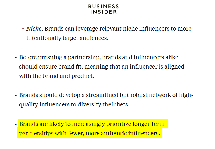 influencer marketing - why influencer marketing works - business insider report