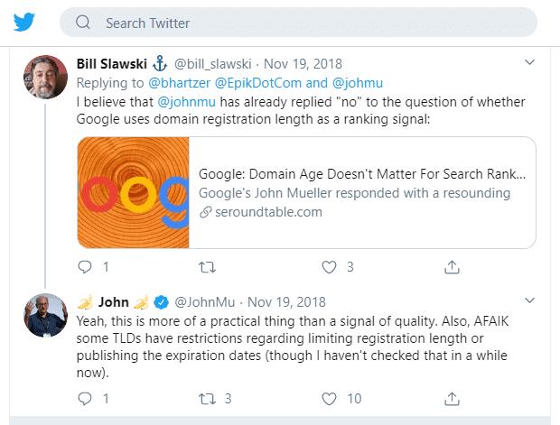 domain expiration - john mueller twitter
