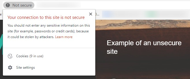 unsecure site example