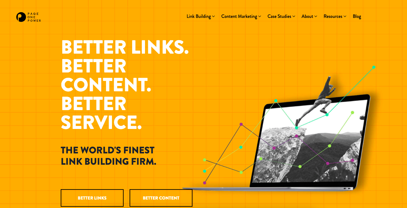 link building service page one power